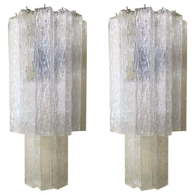 Italian Murano Glass Tubes Sconces - a Pair For Sale - Image 12 of 12