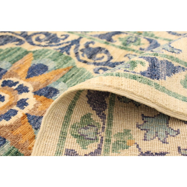 """Textile Uzbek Folk Design Handmade Wool Rug-8'x10"""" For Sale - Image 7 of 8"""