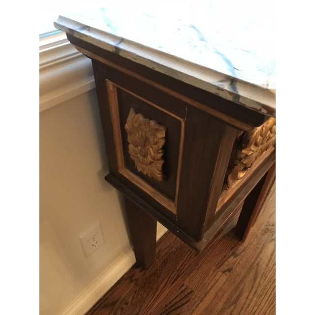 Gold Antique Narrow Neoclassical Italian Console Table For Sale - Image 8 of 12