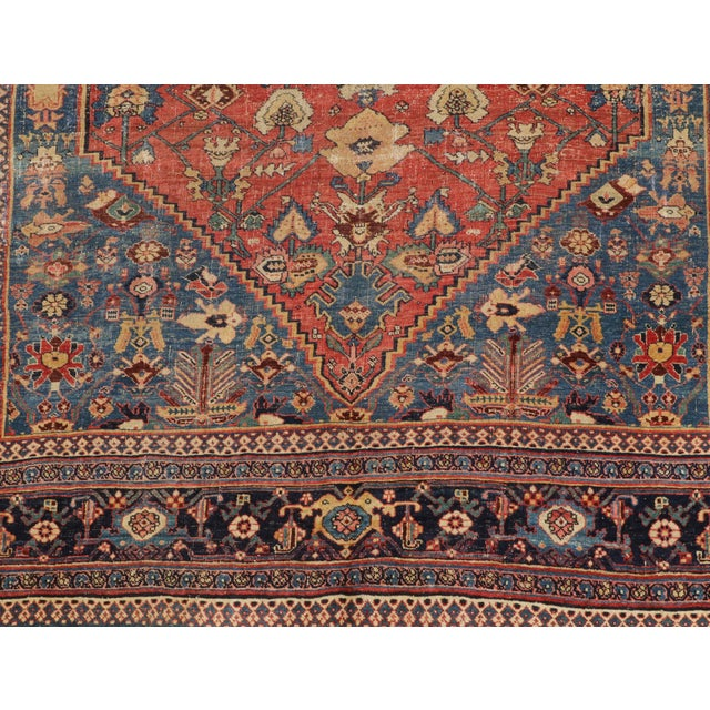 "Antique Persian Bijar Rug-7'6""x10'10"" For Sale - Image 4 of 7"