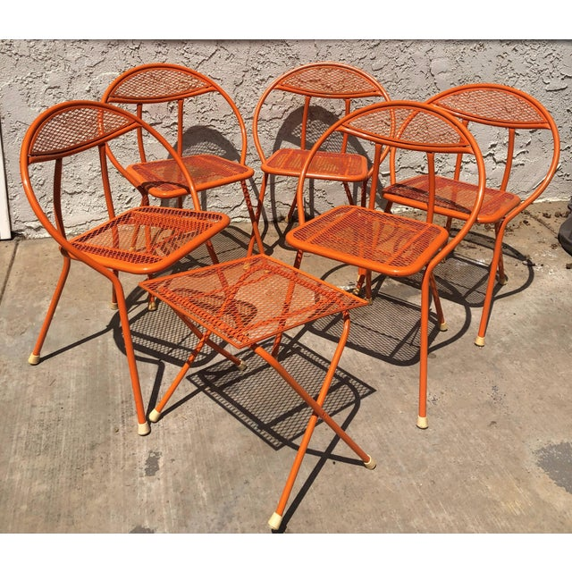 1960s Vintage Maurizio Tempestini for Salterini Hoop Seating Set- 6 Pieces For Sale In Las Vegas - Image 6 of 8