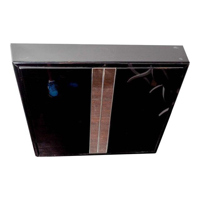 Black Glass Bar For Sale