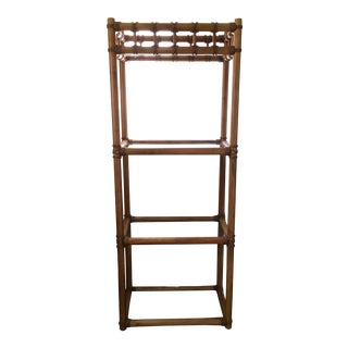 Vintage Boho Bamboo Style Etagere For Sale