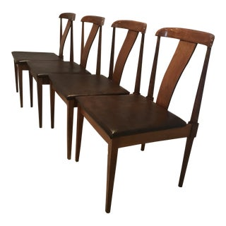 Mid-Century Modern Danish Style Teak Dining Chairs -Set of 4 For Sale