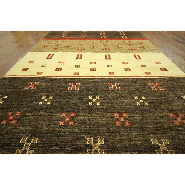 New Multicolor Gabbeh Oriental Area Rug - 6' x 9' - Image 6 of 10