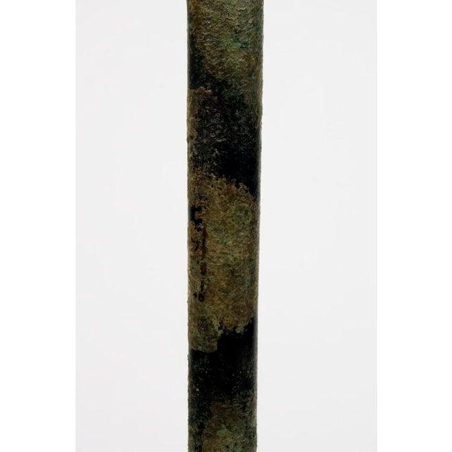 Hansen Verdigris Patinated Floor Lamps - a Pair For Sale - Image 9 of 9