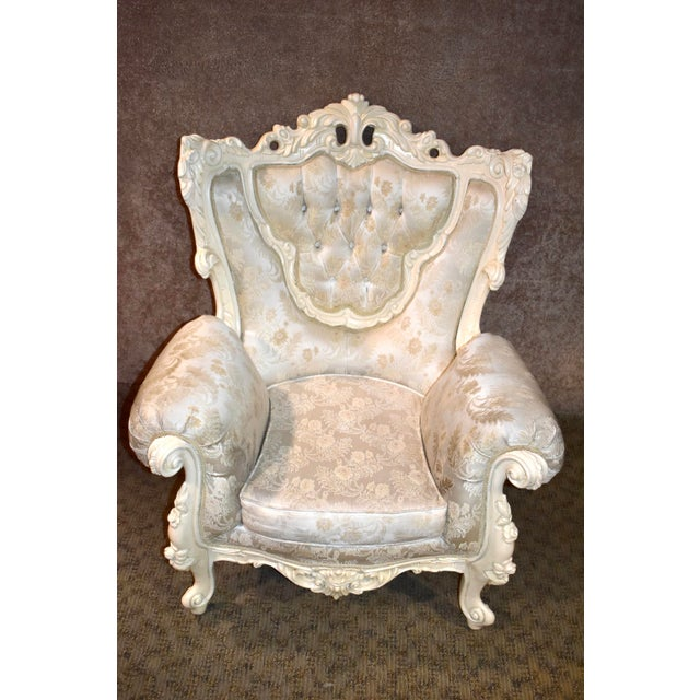 1980s Vintage Ornate Renaissance Style Sitting Chair For Sale - Image 12 of 13