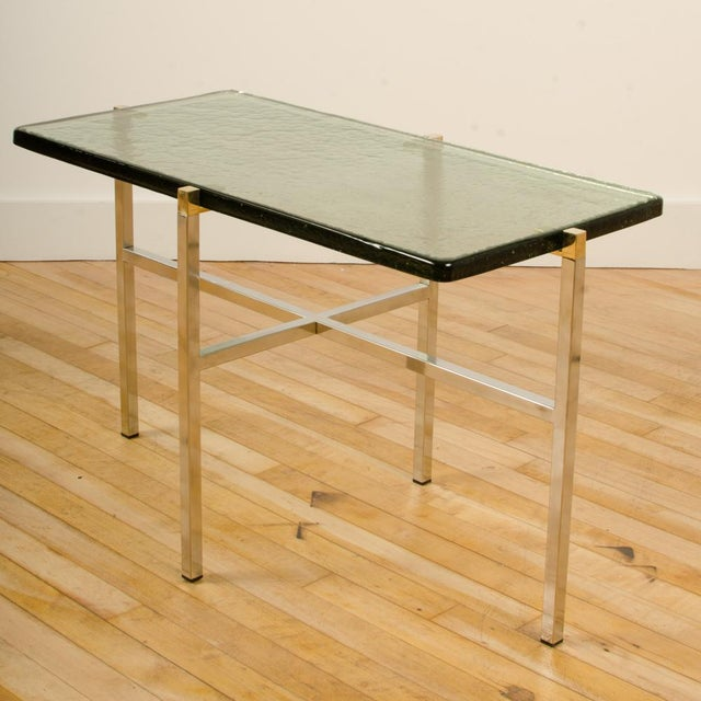 Italian Mid-Century Smoky Glass Top End Tables - a Pair For Sale - Image 12 of 13