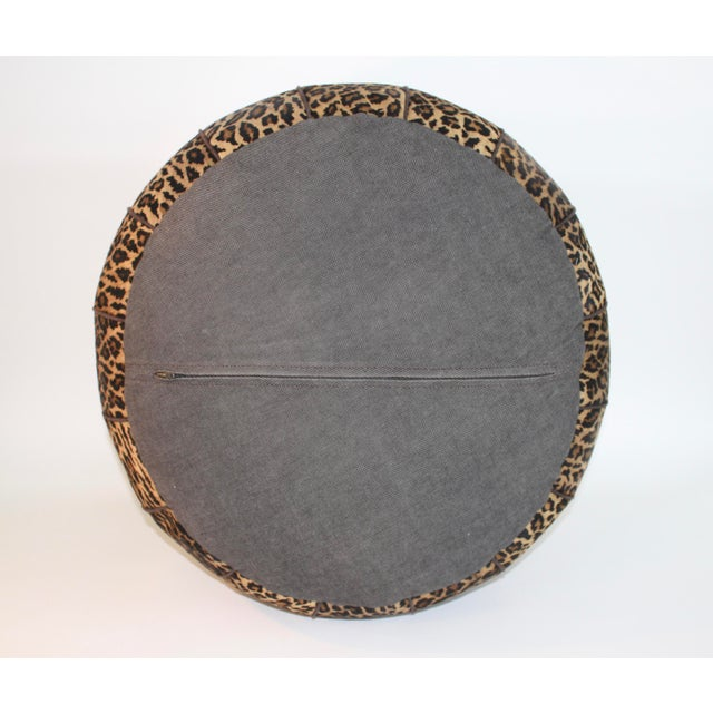 Jamie Young Leopard Print Cowhide Ottoman - Image 5 of 6