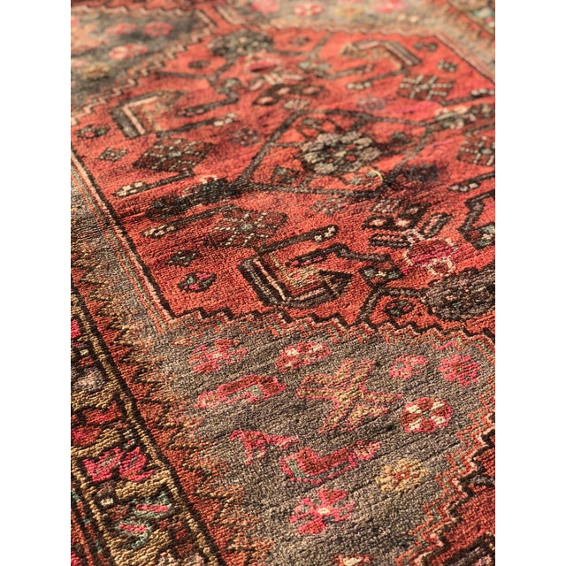 1940s Vintage Persian Hosenibad Runner Rug - 3′7″ × 10′2″ For Sale In Atlanta - Image 6 of 12