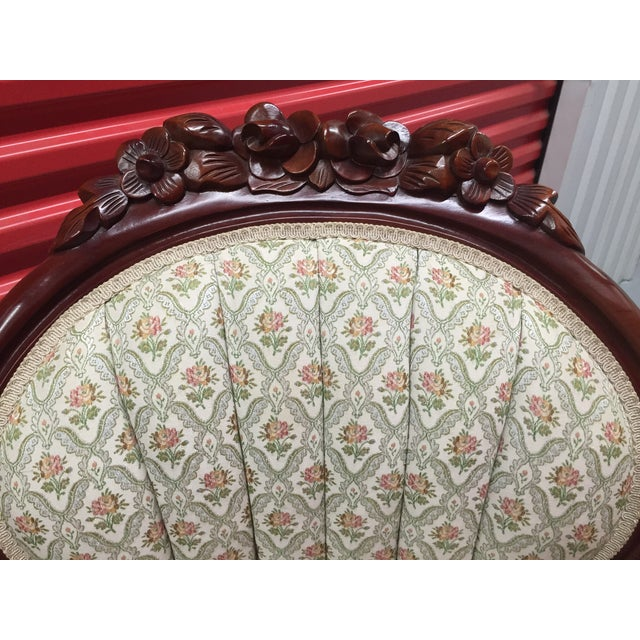 Victorian Mint Parlor Chairs - A Pair - Image 6 of 6