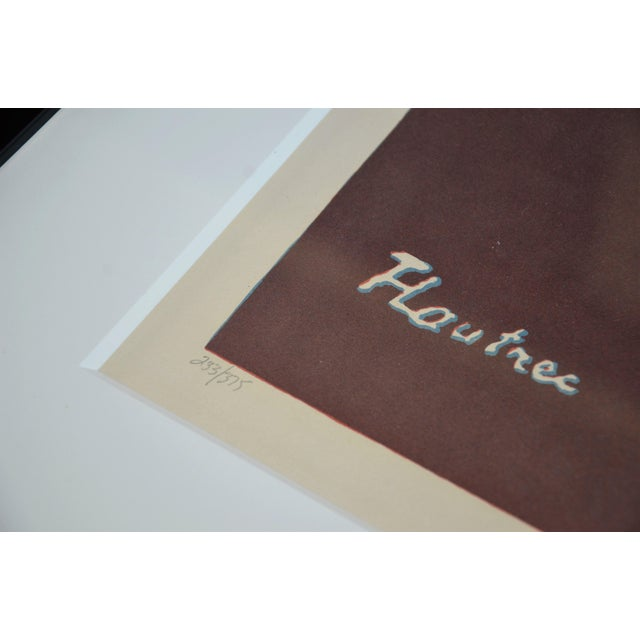 "Framed Lithograph Print ""Aristide Bruant - Ambassadeurs"" by Henri De Toulouse-Lautrec For Sale - Image 10 of 13"
