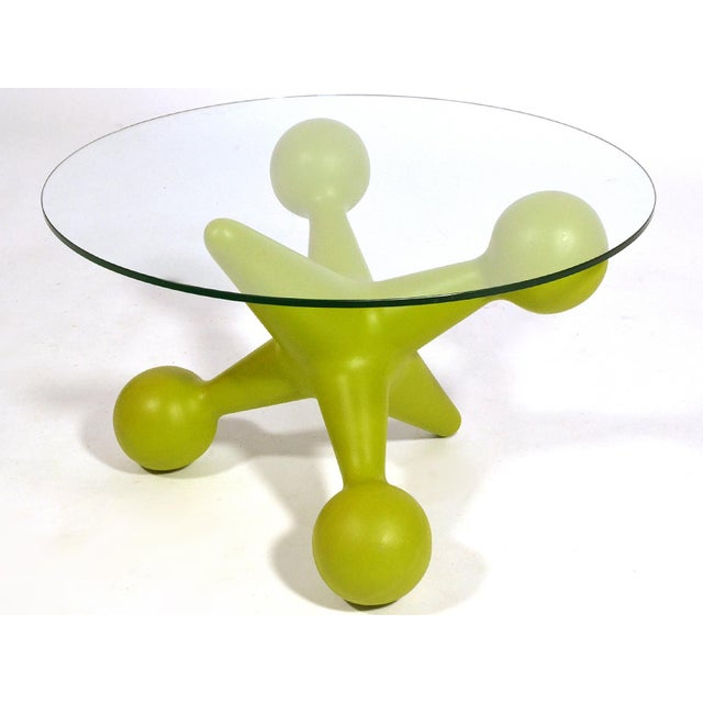 This rare table designed by Bill Currie for his company Design Line embodies his playful aesthetic. Design Line produced...