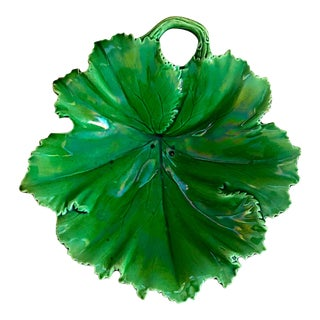 Copeland Majolica Leaf Serving Dish - Circa 1847 For Sale