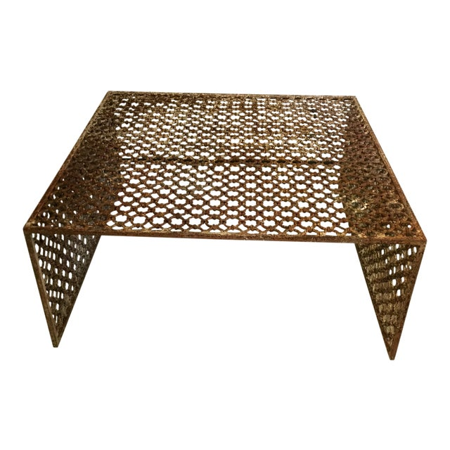Rusted Iron Chain Link Coffee Table - Image 1 of 6