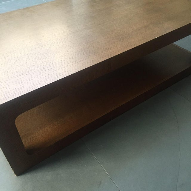 Modern Brown Coffee Table - Image 5 of 7