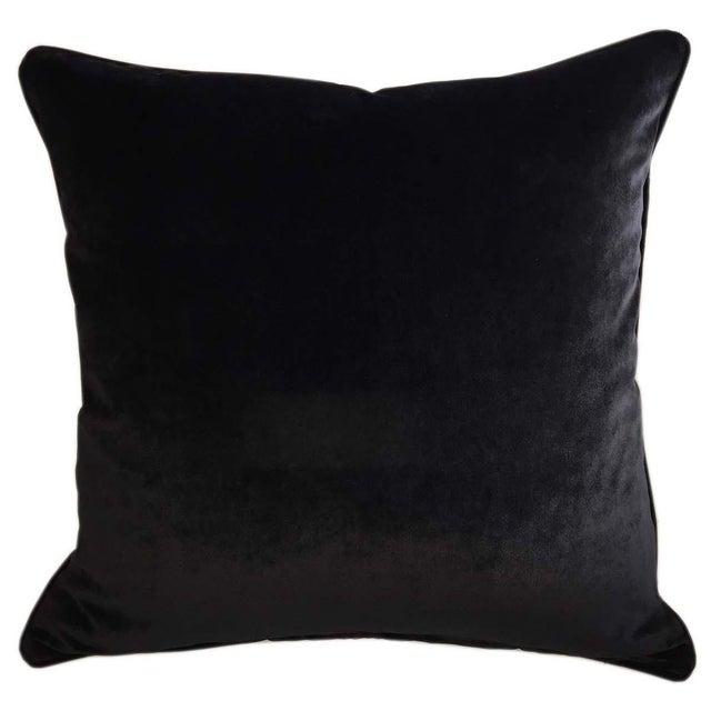 Velvet Tigre Pillows - A Pair - Image 4 of 5