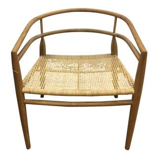Noir Finley Rattan Teak Chair