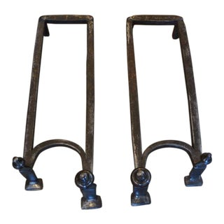 18th Century Double Andirons
