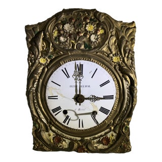 Antique French Morbier Comtoise Wall Clock For Sale