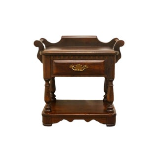Ethan Allen Antiqued Pine Old Tavern Nightstand