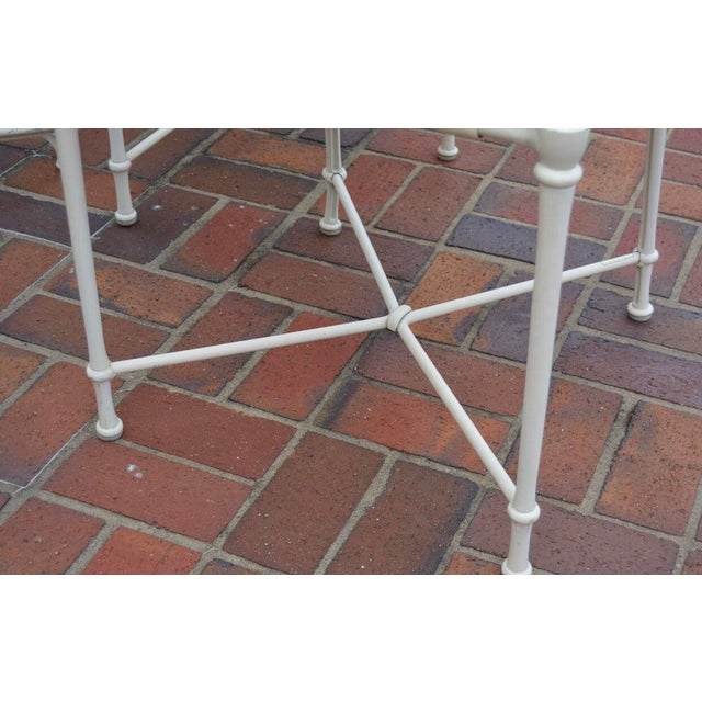Vintage Brown Jordan Outdoor Cast Metal Patio Table and Chairs For Sale In New York - Image 6 of 13