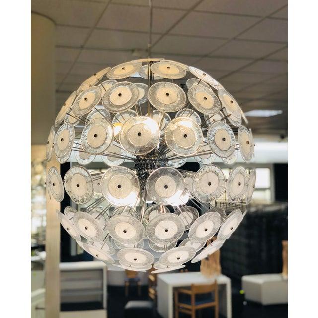 2000 - 2009 Italian Vitosi Style Murano Glass Sputnik Chandelier For Sale - Image 5 of 9