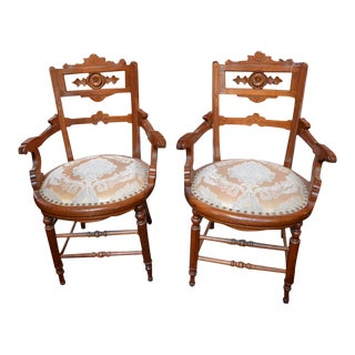 Early 19th Century Vintage East Lake Chairs- A Pair For Sale
