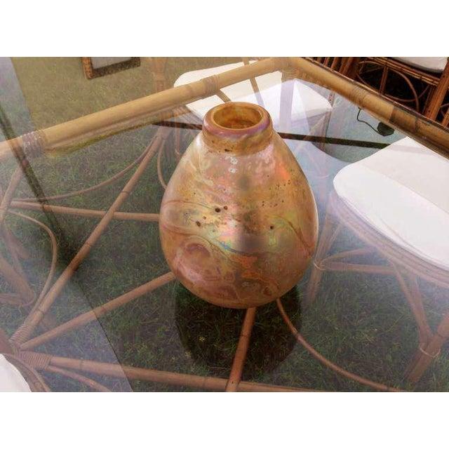 Modern Robert Eicholt Glass Vase For Sale - Image 3 of 7