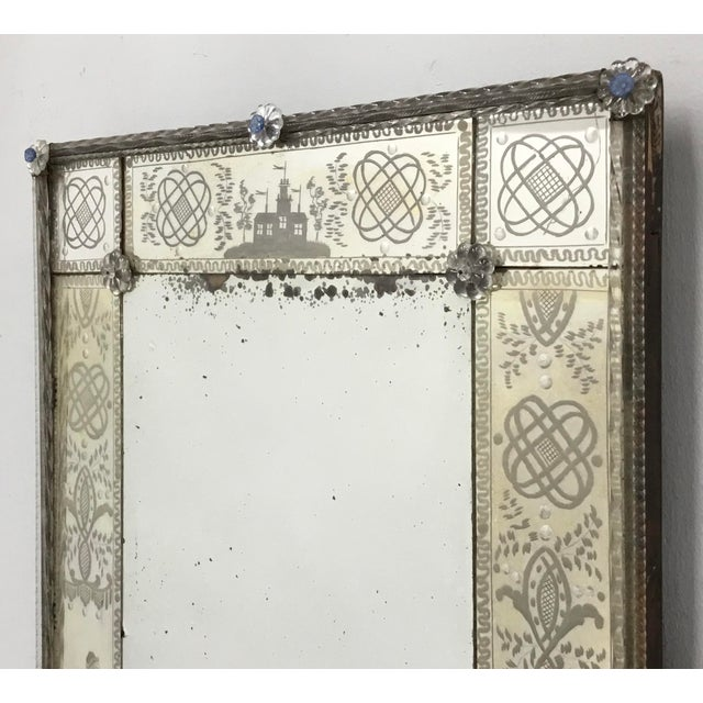 Glass 19th Century Antique Italian Venetian Mirror For Sale - Image 7 of 12