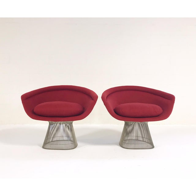 Knoll Warren Platner for Knoll Lounge Chairs - A Pair For Sale - Image 4 of 13