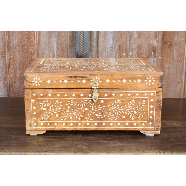 Anglo-Indian Bone Inlay Document Box For Sale - Image 10 of 10