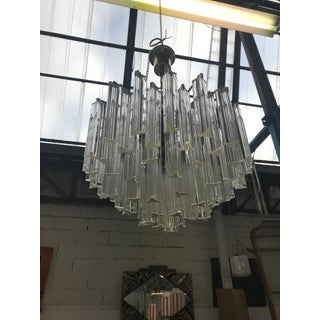 1960s Italian Murano Glass Prism Chandelier Preview