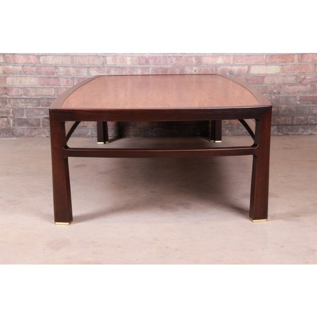 Brown Edward Wormley for Dunbar Monumental Rosewood and Walnut Coffee Table, Newly Restored For Sale - Image 8 of 13