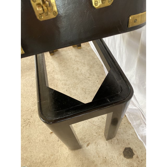 Maitland-Smith Campaign Lather Wrapped - Console Table - a Pair For Sale - Image 6 of 13