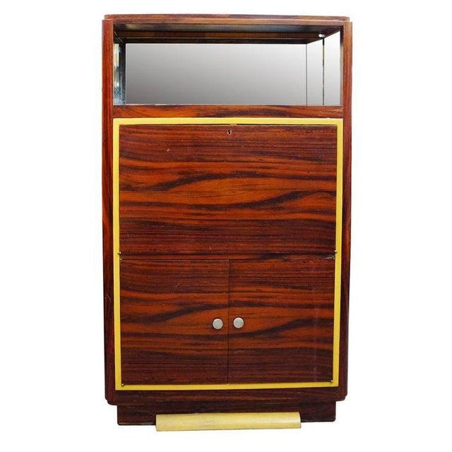 High Style Art Deco Macassar Ebony Vitrine Cabinet & Secretary Desk - Image 1 of 7