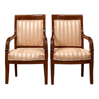 Directoire Upholstered Armchairs For Sale