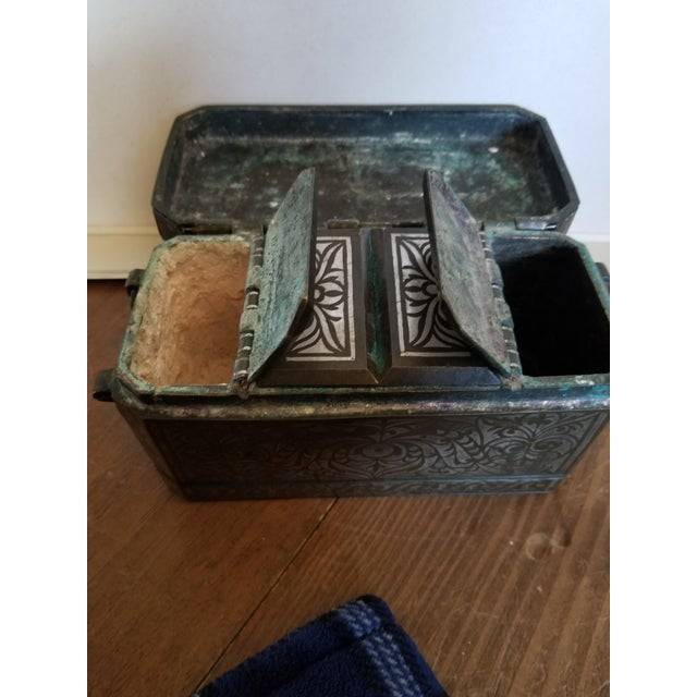 Late 19th Century Antique Bronze and Silver Betel Box For Sale - Image 5 of 11