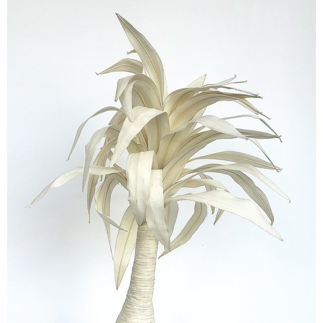 Contemporary Hand-Made Palm Tree Sculpture For Sale - Image 3 of 7