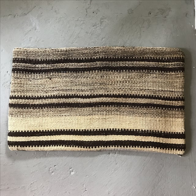 Large Oblong Turkish Kilim Pillow Cover - Image 2 of 3