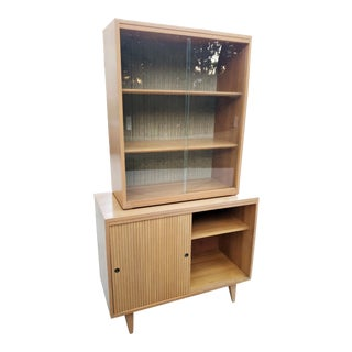 1950s Mid-Century China Display Cabinet For Sale