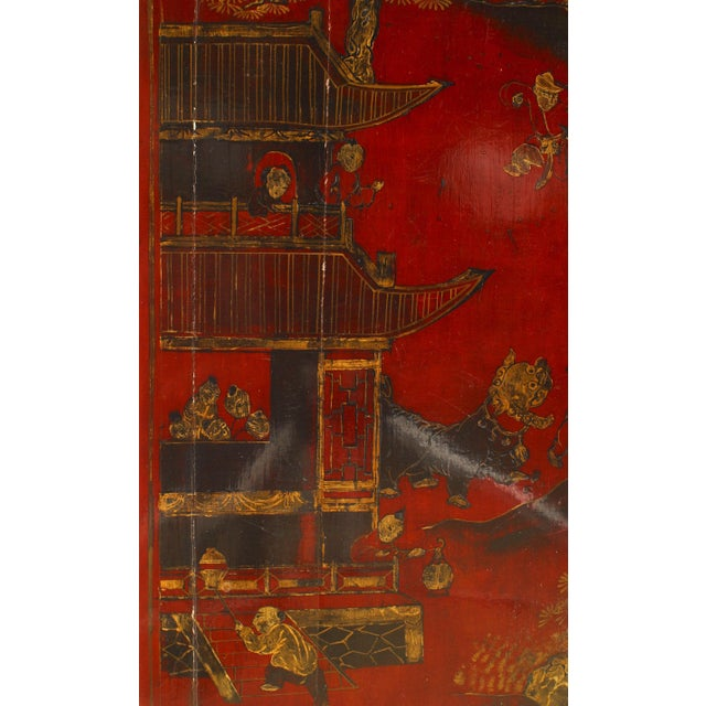 Asian Asian Chinese Style Red Lacquered Coffee Table For Sale - Image 3 of 4