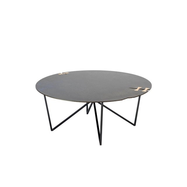 Contemporary Steel Forest Circle Coffee Table For Sale - Image 3 of 3