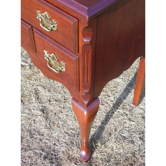 Red Vintage Pennsylvania House Solid Cherry Traditional Queen Anne Style Lowboy Chest For Sale - Image 8 of 13