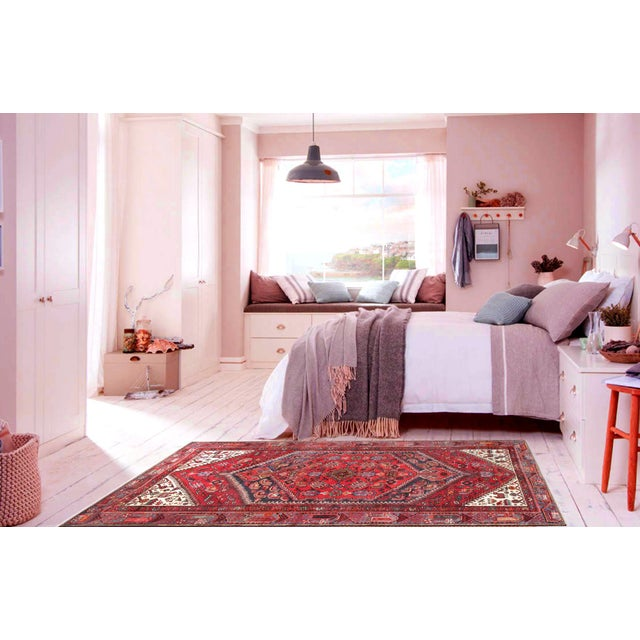 "Transitional Modern Pasargad Home Joshegan Lamb's Wool Area Rug- 4' 2"" X 6' 7"" For Sale - Image 3 of 4"