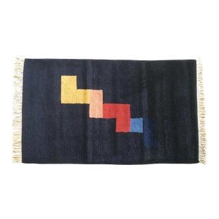 Modern Stephanie Odegard Graphic Wool Handwoven Nepalese Area Rug - 3′3″ × 5′1″