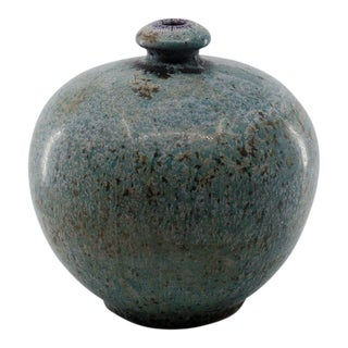 Chinese-Persian Market Ceramic Speckled Glaze Vase For Sale