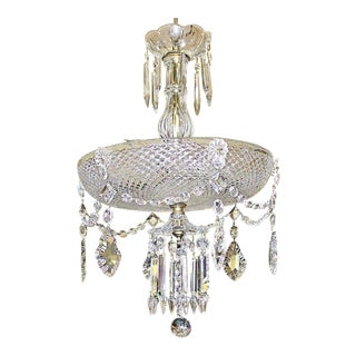 Crystal Bowl Hollywood Regency Chandelier For Sale