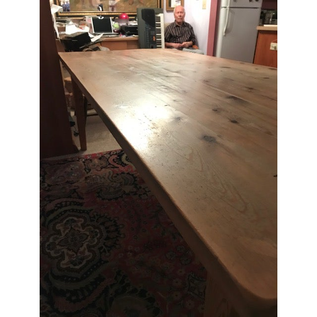 Brown Antique Pine Farm French Table For Sale - Image 8 of 13