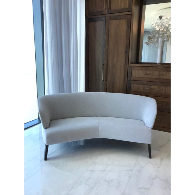Creed Curved Lounge Sofa Designed by Minotti For Sale - Image 13 of 13